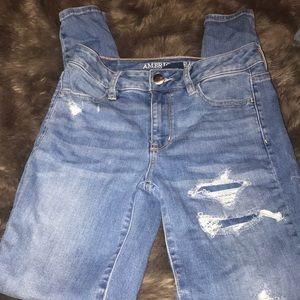 American eagle jeans size 2 hi rise jeggings